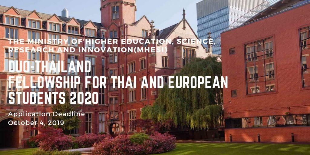 Duo Thailand Fellowship For Thai And European Students 2020