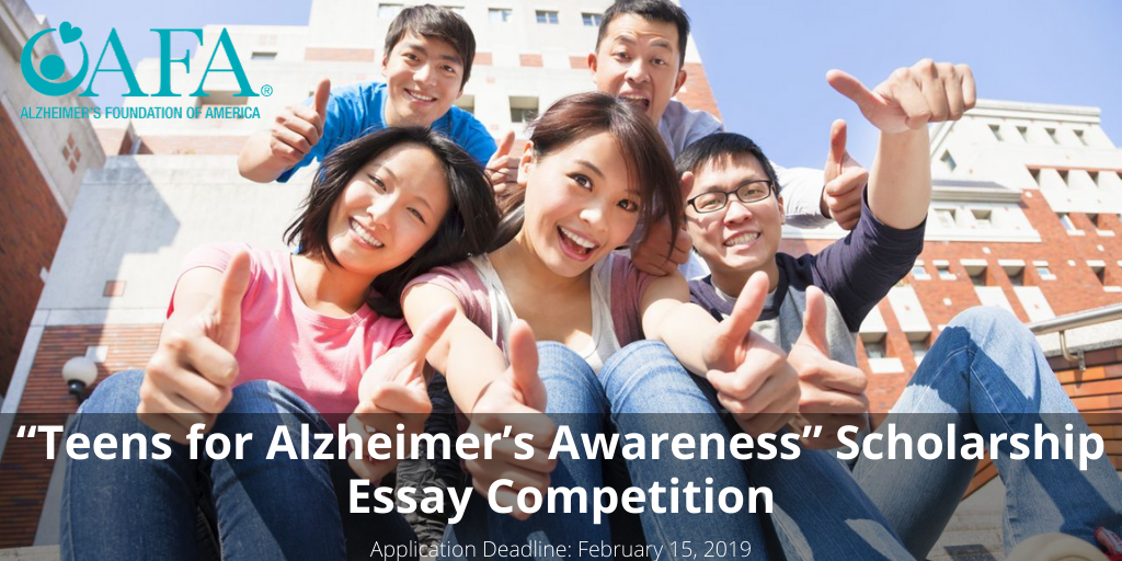 """""""Teens for Alzheimer's Awareness"""" Scholarship Essay Competition"""