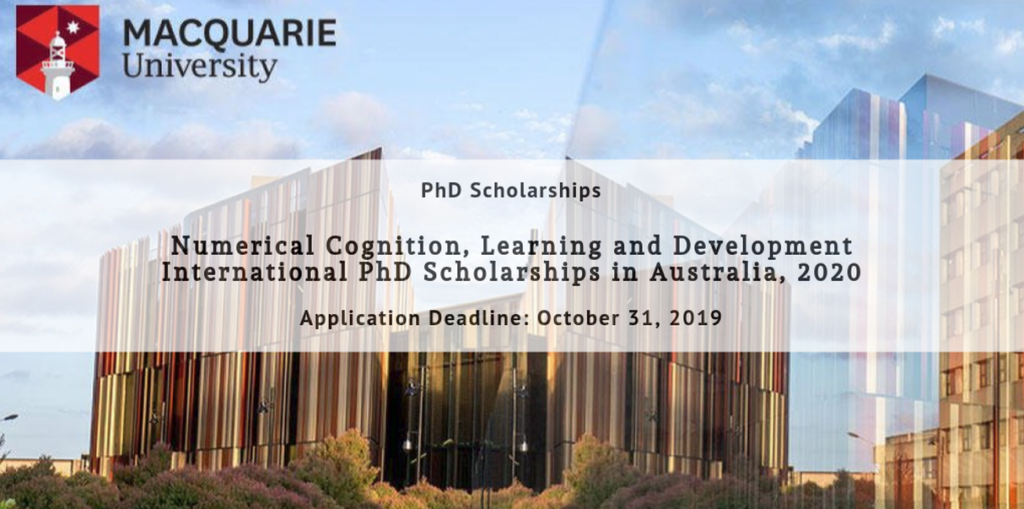 Numerical Cognition, Learning and Development International PhD Positionsin Australia, 2020