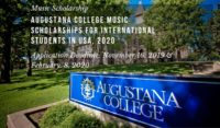 Augustana College music awards for International Students in USA, 2020