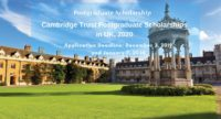 Cambridge Trust postgraduate placements in UK, 2020