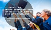 Cathie Wallace Bursary for International Students at University of West London in UK, 2019