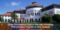 China Scholarship Council-Massey University PhD Scholars Program in New Zealand