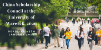 China Scholarship Council at the University of Warwick, 2020