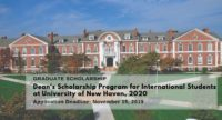 Dean's program for International Students at University of New Haven in USA 2020