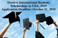 Deserve International Students Scholarships in USA, 2019
