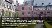 Doctoral Scholarships for Candidates from Developing Countries at Ghent University in Belgium 2020