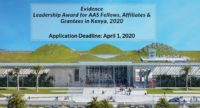 Evidence Leadership Award for AAS Fellows, Affiliates & Grantees in Kenya, 2020