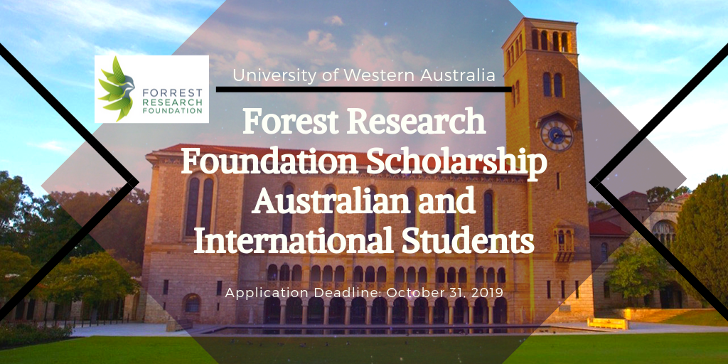 Forest Research foundation grant Australian and International Students