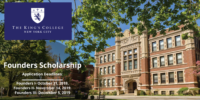 Founders Scholarship at The King's College in the US