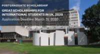GREAT Scholarships for International Students in UK, 2020