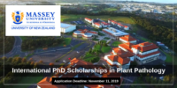 International PhD Positionsin Plant Pathology at Massey University, New Zealand
