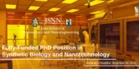 JSNN Fully funded PhD Position in Synthetic Biology and Nanotechnology