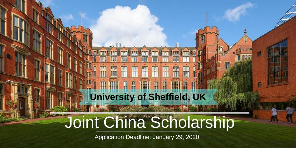 Joint China Scholarship at the University of Sheffield, UK