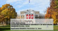 King-Morgridge Scholars Program at University of Wisconsin–Madison in USA, 2020