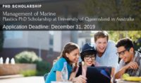 Management of Marine Plastics PhD Scholarship at University of Queensland in Australia