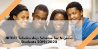 NITDEF Scholarship Scheme for Nigeria Students 2019/2020