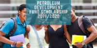 Petroleum Development Fund Scholarship 2019/2020