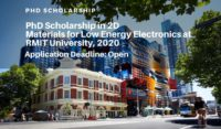 PhD Scholarship in 2D Materials for Low Energy Electronics at RMIT University, 2020