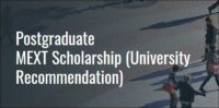 Postgraduate MEXT Scholarship at Asia Pacific University, Japan
