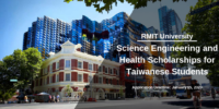 RMIT University Science Engineering and Health Scholarships for Taiwanese Students
