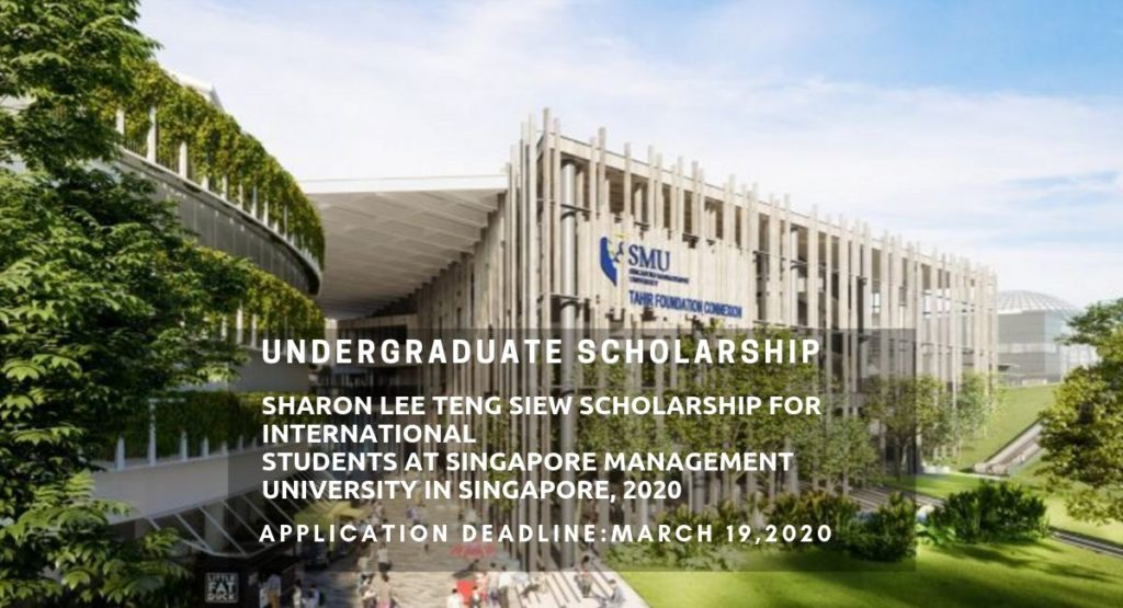 Sharon Lee Teng Siew funding for International Students at Singapore Management University in Singapore, 2020