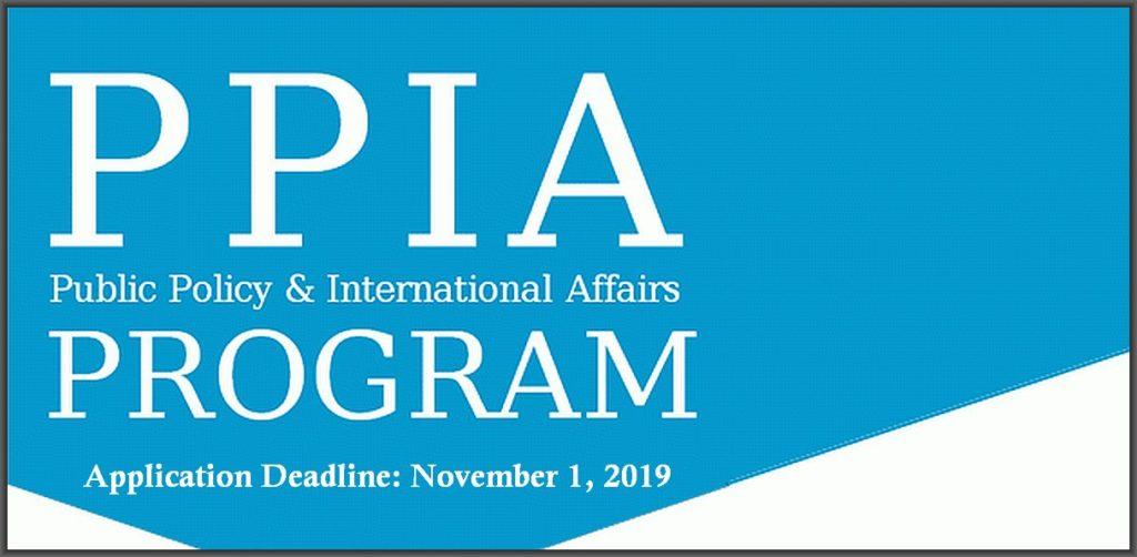 The PPIA Junior Summer Institute (JSI) Fellowship Program in USA, 2020