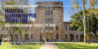 UQ Materials Engineering PhD funding for International Students in Australia