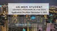US-MEPI Student Leaders Program in USA 2020