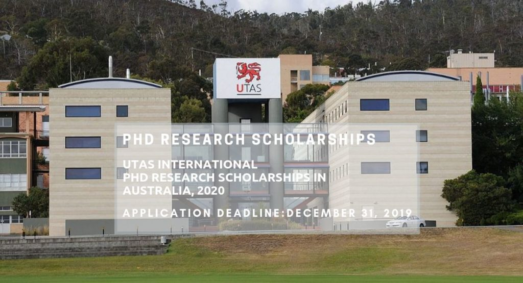 UTAS International PhD Research Scholarships in Australia, 2020