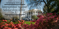 University of Alabama International Student Scholarships in the USA