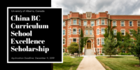 University of Alberta China BC Curriculum School Excellence Scholarship in Canada
