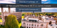 University of Cambridge CTR Next Generation Fellowship for UK, EU and Overseas Graduates
