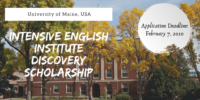 University of Maine Intensive English Institute Discovery Scholarship in the USA