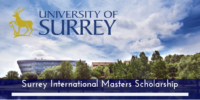 University of Surrey International masters programme in the UK, 2020