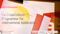 ifa CrossCulture Programme for International Applicants