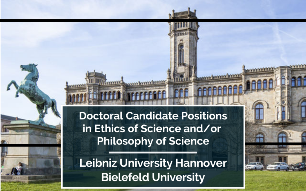 5 Doctoral Candidate Positions in Ethics of Science and Philosophy of Science in Germany