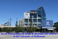 Bryan Scholarships for Home & International Students at the University of Melbourne