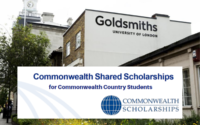 CSC Shared funding for Commonwealth Country Students at Goldsmiths, University of London, UK