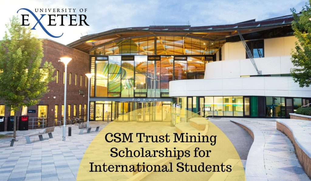 Csm Summer Classes 2020.Csm Trust Mining Scholarships For International Students At