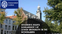 Children's Rights Scholarship 1 at Leiden University in the Netherlands