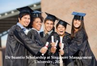 De Suantio Scholarship at Singapore Management University, 2020