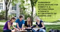 Earmarked Scholarships for Domestic & International Students at University of Queensland, 2020