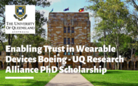 Enabling Trust in Wearable Devices Boeing - UQ Research Alliance PhD Scholarship in Australia