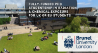 Fully-Funded PhD Studentship in Radiation & Chemical Exposure for UK or EU students
