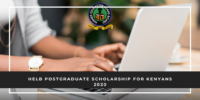 HELB Postgraduate funding for Kenyans 2020