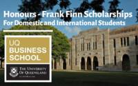 Honours - Frank Finn Scholarships for International Students at UQ Business School, Australia
