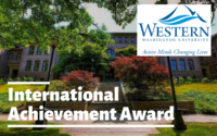 International Achievement Award at Western Washington University, USA