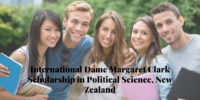 International Dame Margaret Clark Scholarship in Political Science, New Zealand