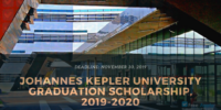 Johannes Kepler University Graduation Scholarship, 2019-2020